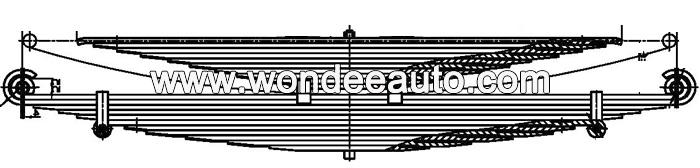 304270 Mercedes Benz Leaf Spring Drawing
