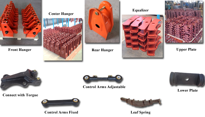 American type 2 Axle Trailer Suspension Parts