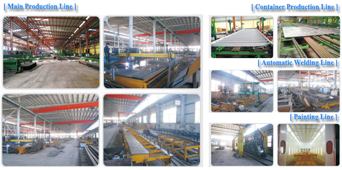 3 Axle 40T Flatbed Semi Trailer Production Line