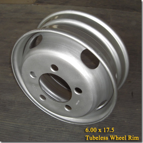 6.00x17.5 Tubeless Steel Truck Trailer Wheel Rim