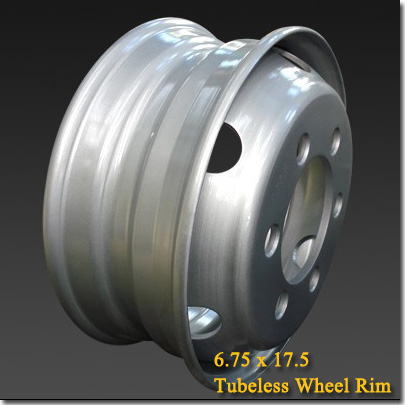 6.75x17.5 Tubeless Steel Truck Trailer Wheel Rim