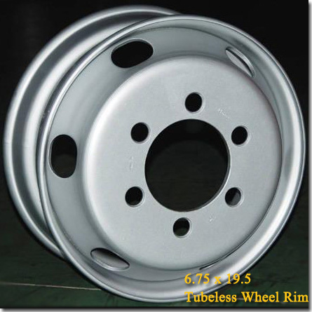 6.75x19.5 Tubeless Steel Truck Trailer Wheel Rim