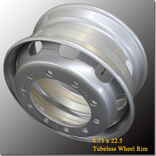 6.75x22.5 Manufactural Semi Trailer Wheel Rim