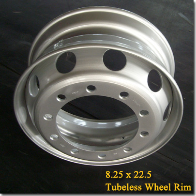 8.25x22.5 Tubeless Steel Truck Trailer Wheel Rim