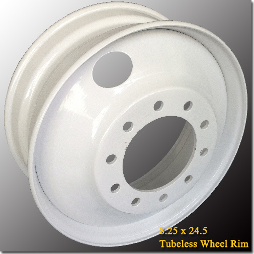 8.25x24.5 Tubeless Steel Truck Trailer Wheel Rim