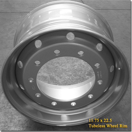 11.75x22.5 Tubeless Steel Truck Trailer Wheel Rim