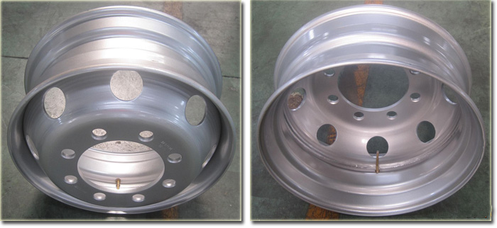8.25x22.5 Tubeless Truck Steel Wheel Detail Photots
