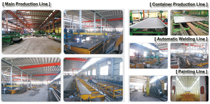 3 axle 40T fence semi trailer production line