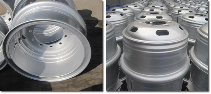 Trailer Tube 24 inch Wheel Rim Detail Photos