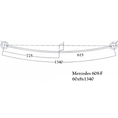 Trailer Mercedes 608-F Leaf Spring