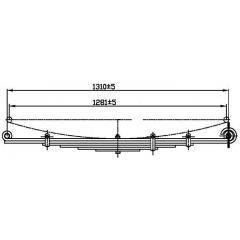 Double Eye Trailer Leaf Spring at Trailer Parts