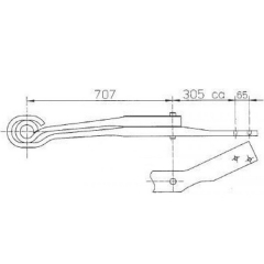 1376909 Scania Air Linker Leaf Spring