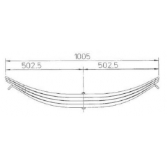 ROR Suspension parts 21211074 Leaf Spring