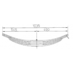 ROR Semi Trailer 21220880 Leaf Spring for Sale