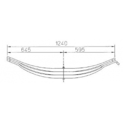 Parabolic 3-Leaves 21225674 Leaf Spring