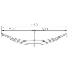 Steel 21223329 Factory Leaf Spring