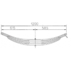 Parabolic 21223326 Leaf Spring for ROR