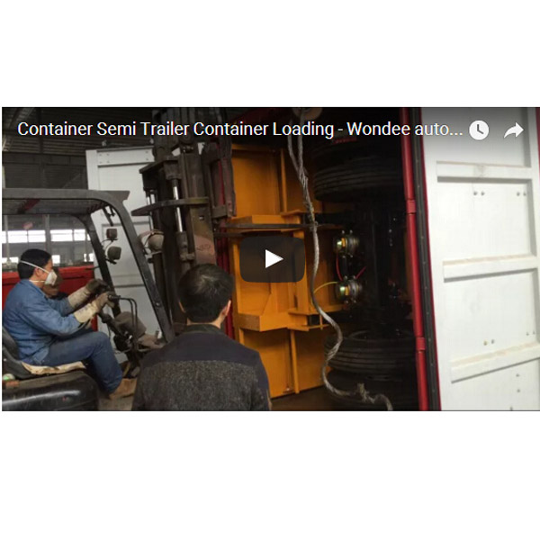 Skeletal Semi Trailer Container Loading (2) -  Wondee Autoparts